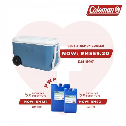 Vaccine Program - Coleman 62QT WHEELED XTREME® COOLER - BLUE/WHITE