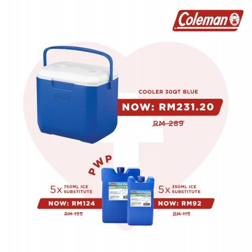 Vaccine Program - Coleman 30QT Cooler Box - Blue