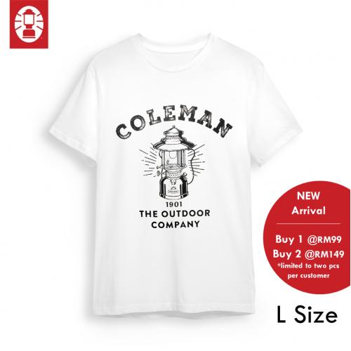 COLEMAN T SHIRT LANTERN 1906  L SIZE WHITE