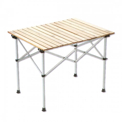 COLEMAN NATURAL WOOD ROLL TABLE 90 ASIA