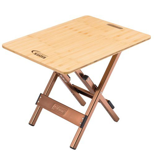 COLEMAN COMFORTMASTER  BAMBOO SIDE TABLE