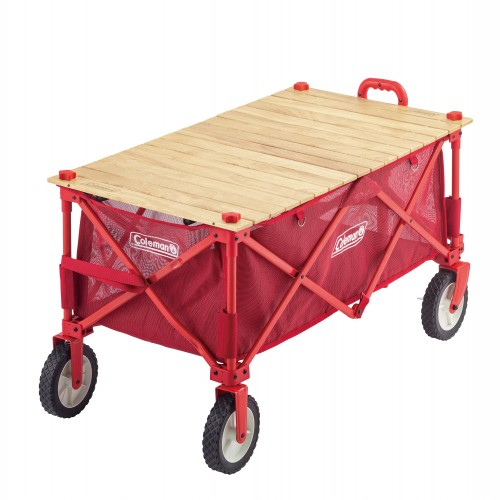 COLEMAN OUTDOOR WAGON WOOD ROLL TABLE ASIA (EX)