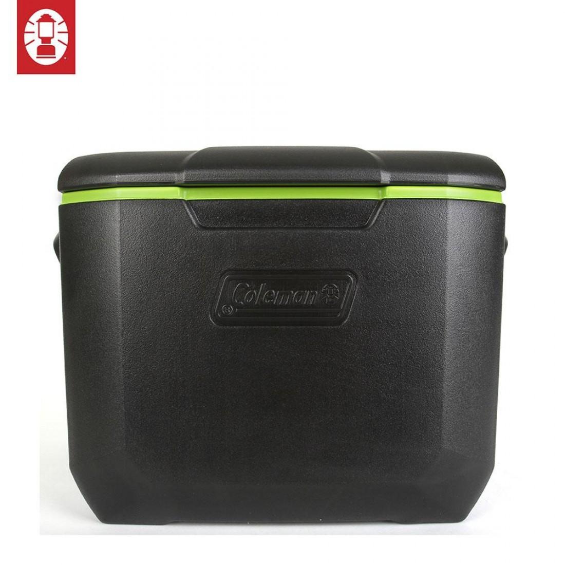 COLEMAN 60QT WHEELED COOLER BOX - Black/Green