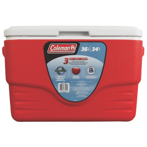 COLEMAN 36QT/34L COOLER BOX (RED)