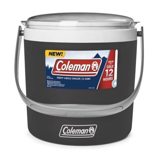 Coleman Performance Cooler Box - 9QT Party Circle Cooler Box (Black Sand)
