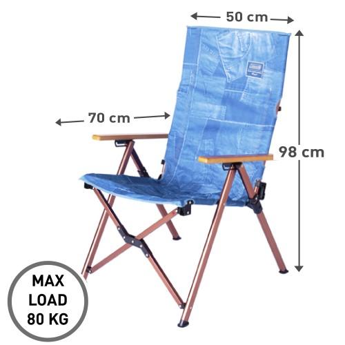 Coleman IL Lay Chair - Denim