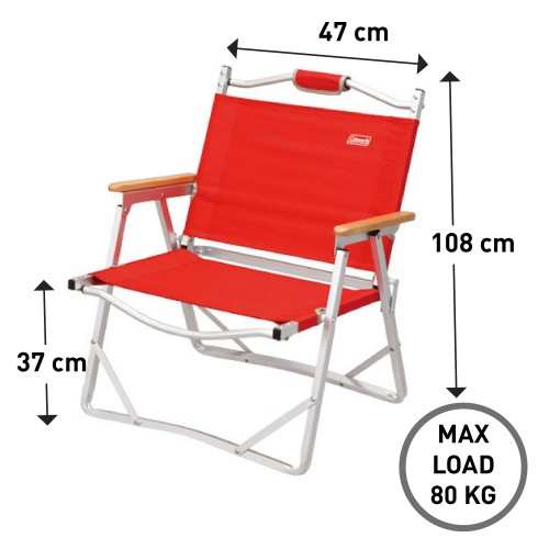 Coleman Compact Folding Chair (Red)