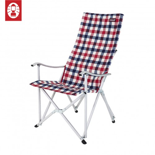 Coleman Deluxe Relax Chair - Red Check