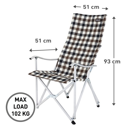 Coleman Deluxe Relax Chair - Brown Check