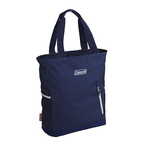 Coleman 2 Way Tote Backpack Navy Dot