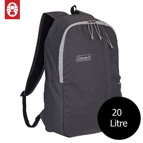 COLEMAN PACKABLE DAY PACK BACKPACK - BLACK