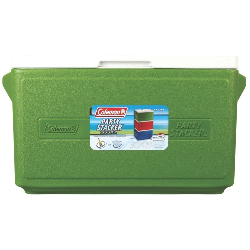 Coleman 48 Cans Party Stacker™ Cooler Box (Green)