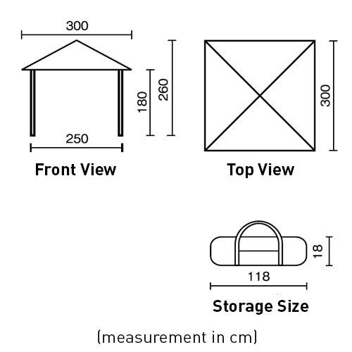 Coleman Instant Visor Shade (10 ft. x 10 ft.)
