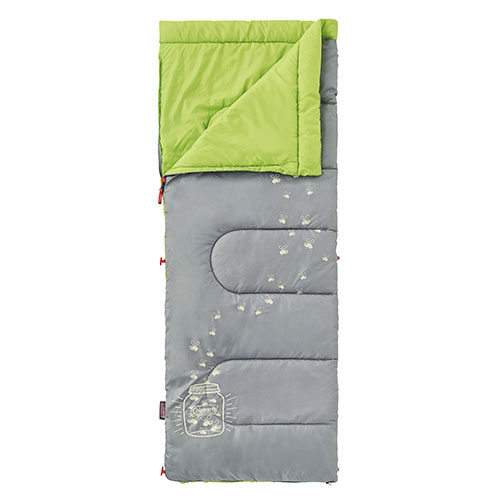 Coleman 7°C Glownight Kids/C7 Sleeping Bag (Lime Green)