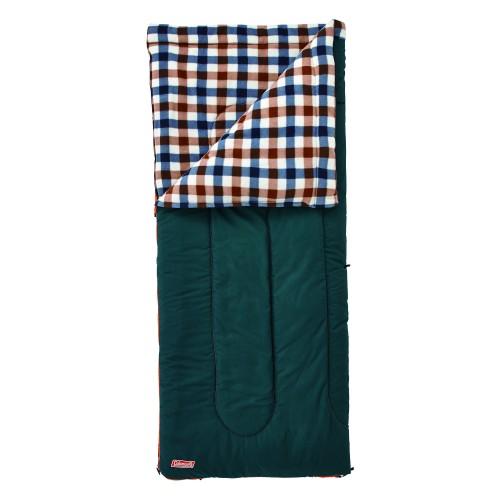 Coleman Fleece EZ Carry/C5 Sleeping Bag (Brown Check)