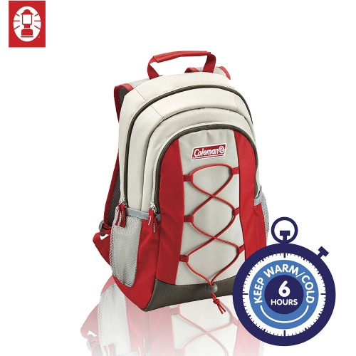 Coleman Cool Bag 10L Cool Backpack Beige/Red